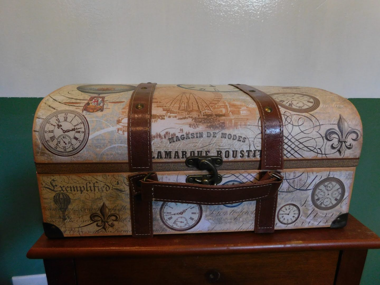 Punch Studio Art Deco trunk style storage box