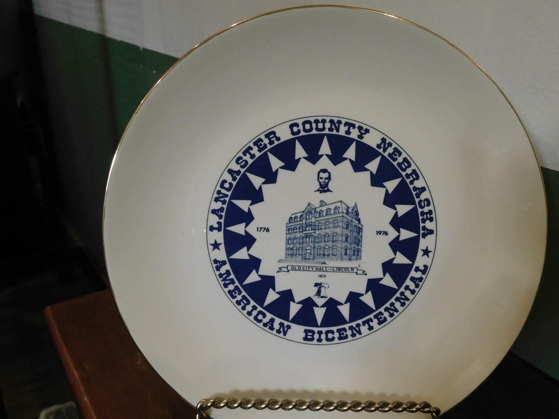 Lancaster County Nebraska American Bicentennial collector plate