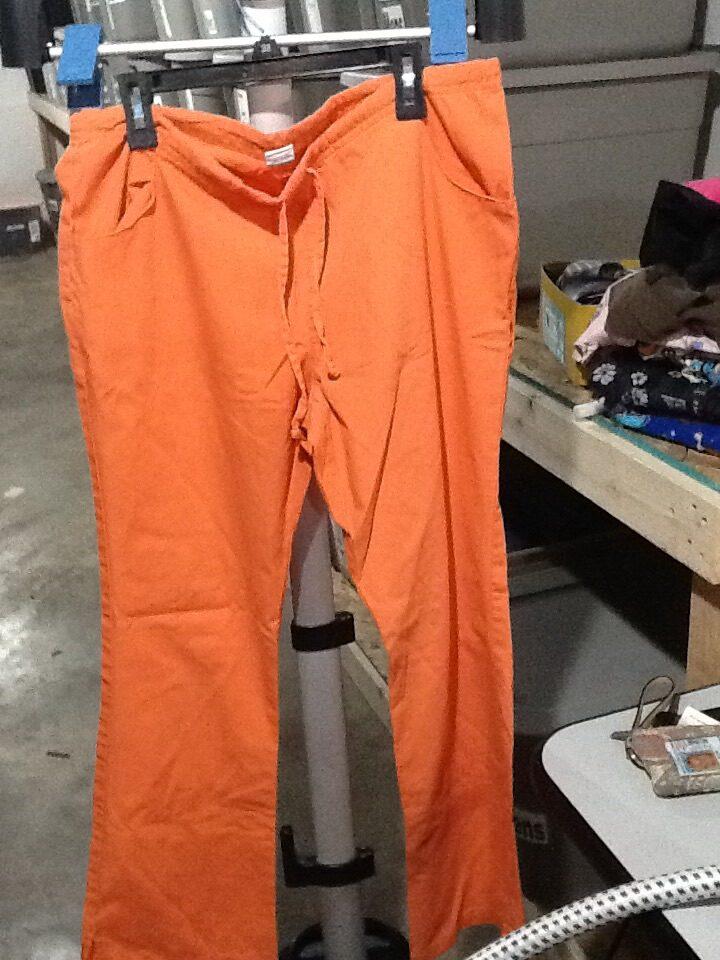 Orange Scrub Pants XS