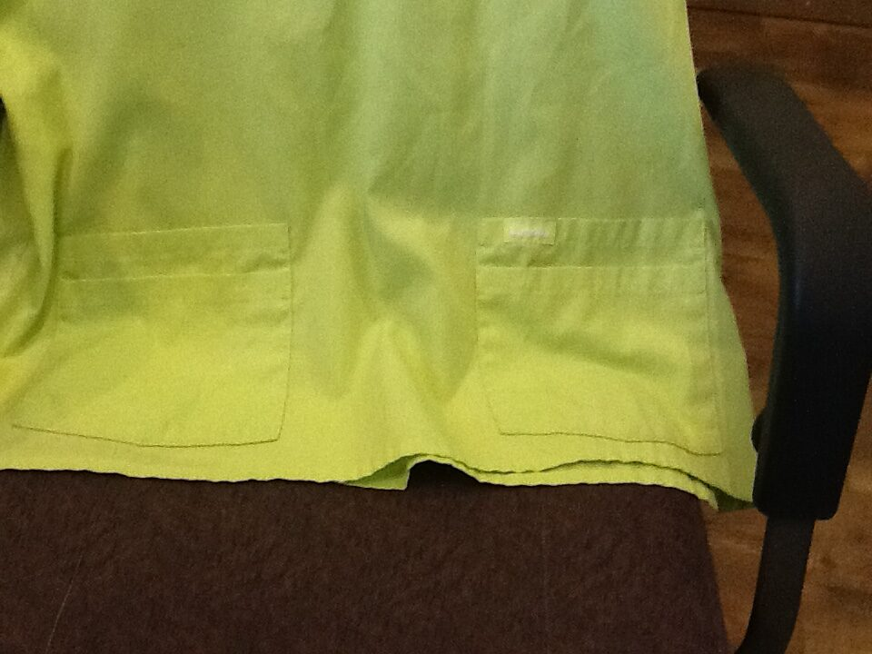 Landau Scrub Top Lime Green